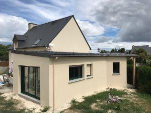 agranissement maison architecte batiment france 35430
