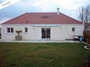 maison avant travaux agrandissement 45120