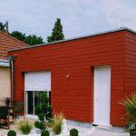 agrandissement maison bardage bois rouge Corquilleroy (45120)
