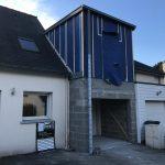 agrandissement maison garage bois parpaing