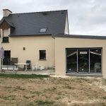 agrandissement maison salon 35430
