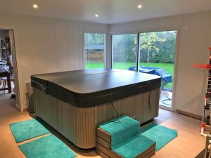 agrandissement maison spa piscine 35650