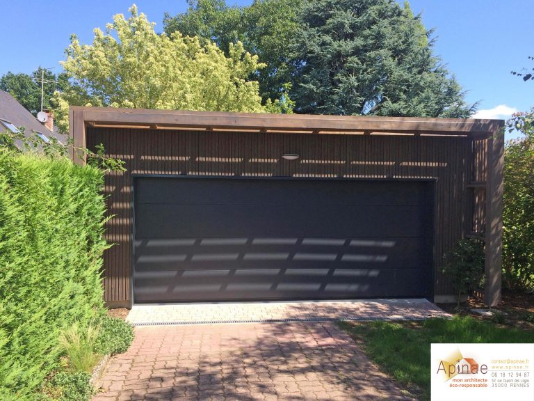 Extension Garage à Toit Plat En Ossature Bois à Olivet - Extension garage toit plat