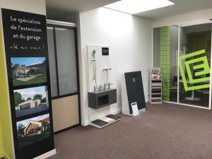 interieur showroom sanitaire CYBEL EXTENSION Nantes