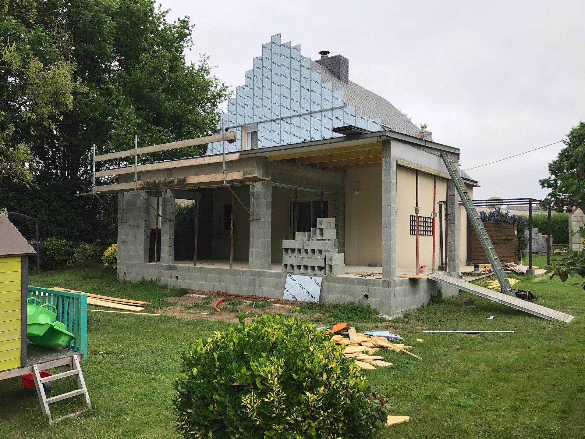 Extension de maison saint solen 22100 vue4 1 cybel for Financement extension maison
