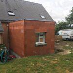 extension maison briques toit plat laillé 35890