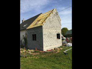 agrandissement maison traditionnelle ardoise 35320
