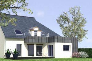 projet extension maison toit plat morbihan