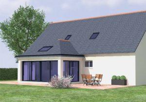 projet extension maison vitrée véranda morbihan