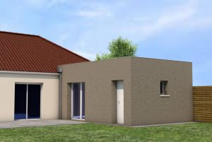projet 3D agrandissement maison Corquilleroy (45120)