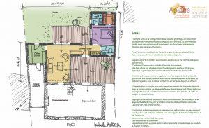 plan agencement intérieur extension maison morhiban 56