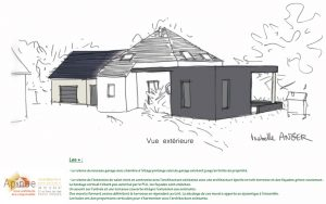 projet extension garage maison architecte morbihan 56