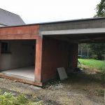 Extension de garage avec carport en brique à Bruz-(35170)