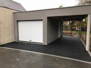Extension de garage avec carport après travaux (35170)