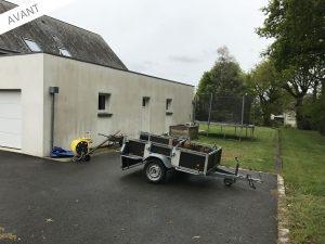 projet d'extension de garage avec carport avant travaux (35170)