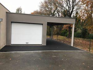 Extension de garage avec carport en cube (35170)