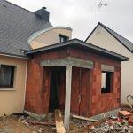 Extension de maison pour une entrée pendant travaux (35140)