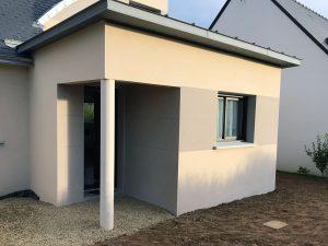 xtension de maison avec sas d'entrée (35140)