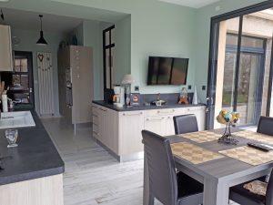 Extension de maison pour une nouvelle cuisine aérée
