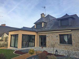 Extension de maison cuisine et terrasse à Vitré (35500)