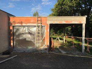 Extension murs en briques pour garage avec carport à Bruz (35170)