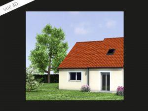 Projet 3D d'extension de maison près de Chartres (28000)