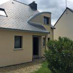 Projet extension de maison entrée avant travaux (35140)