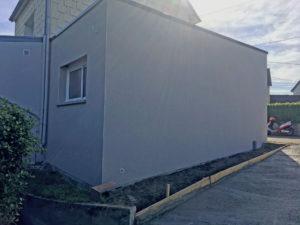agrandissement toit plat cybel extension cherbourg