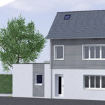 3D plan extension maison 50110