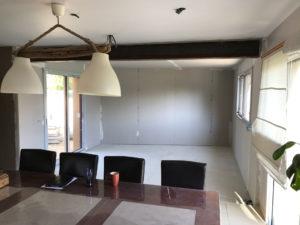 Travaux intérieur de l'extension de maison à Pléslin-Trigavou (22490)