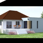 plan 3D agrandissement maison amilly 45200