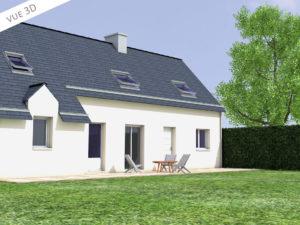 plan 3D extension maison etage gévezé 35850