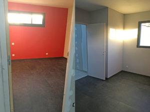 Agencement intérieur de l'extension de maison à saint-nazaire (44600)