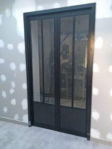 Porte verriere galandage extension de maison à saint-nazaire (44600)