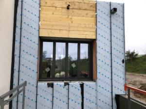 façade zinc agrandissement maison 35520