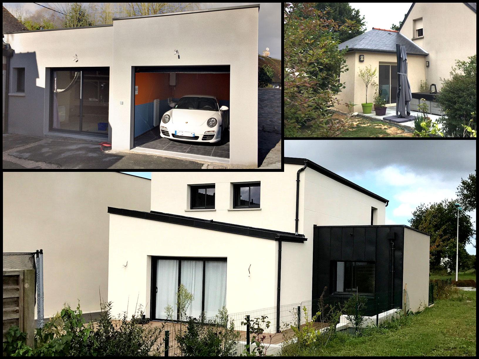 Réalisations extensions maison garage Cybel Extension 10-2018