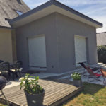 extension maison façade arrière 35500