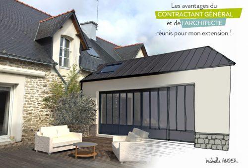 agrandissement maison architecte cybel extension