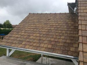 toiture tuiles plates extension garage 45700
