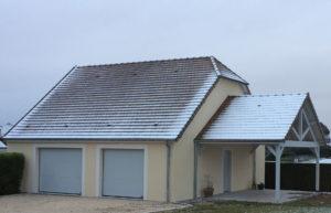 extension garage terrasse couverte 45700