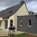 realisation extension maison salon 35360