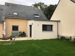 Extension de maison salon après les travaux (35250)