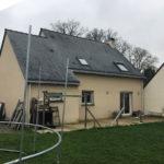 Extension de maison pour un salon avant les travaux (35250)