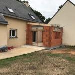 Extension de maison pour un salon pendant les travaux (35250)