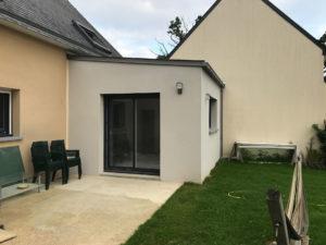Extension de maison en zinc monopente (35250)