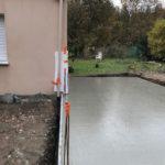 dalle beton extension garage 44500