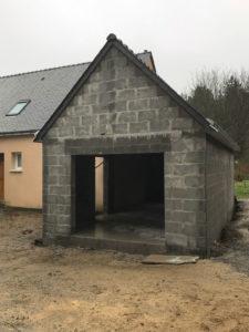 extension garage parpaing et ardoises 44500