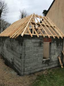 extension garage 3 pentes 44500