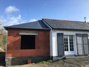 toiture ardoises 3 pentes extension maison 35230