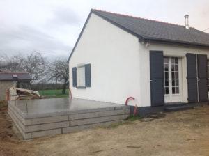 travaux fondations extension maison 35230